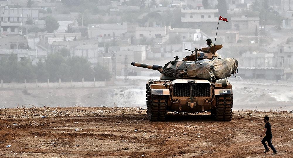 Tanque turco en la frontera con Siria (archivo)