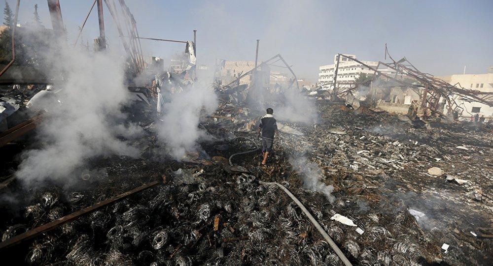 Bombardeos de la coalición árabe en Yemen (archivo)