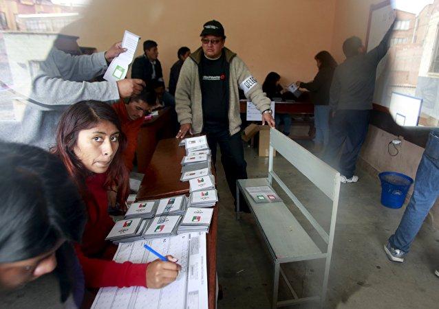 Comienza el escrutinio en Bolivia