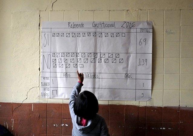 Conteo de los votos en Bolivia