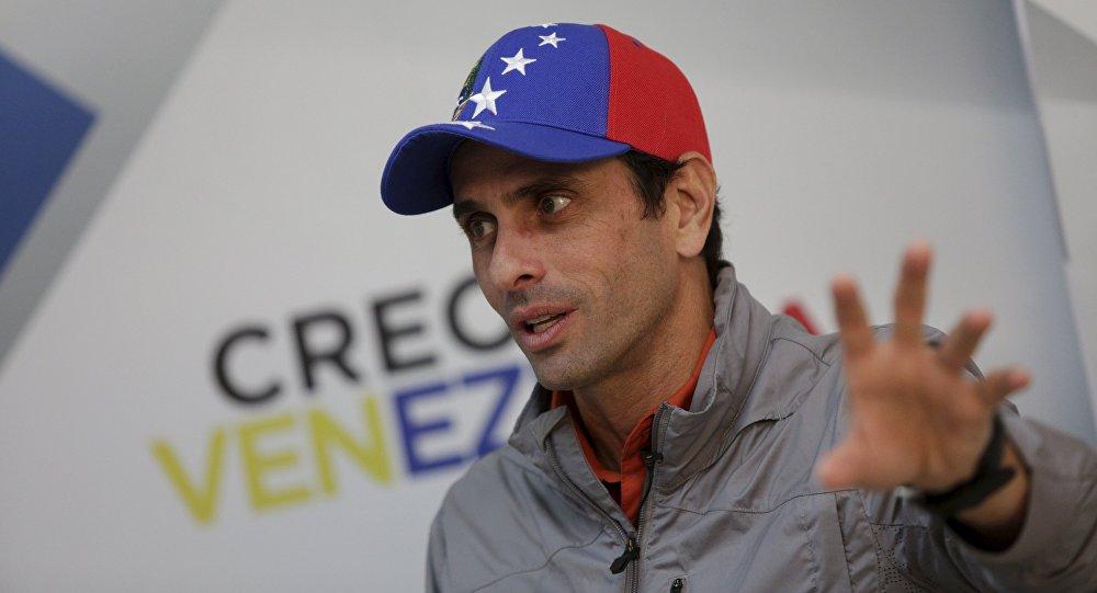 Henrique Capriles, líder opositor de Venezuela