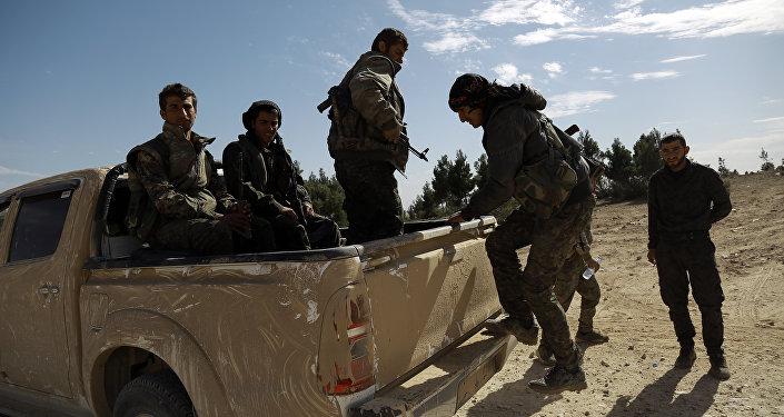 Militantes de la Fuerzas Democráticas Sirias (archivo)