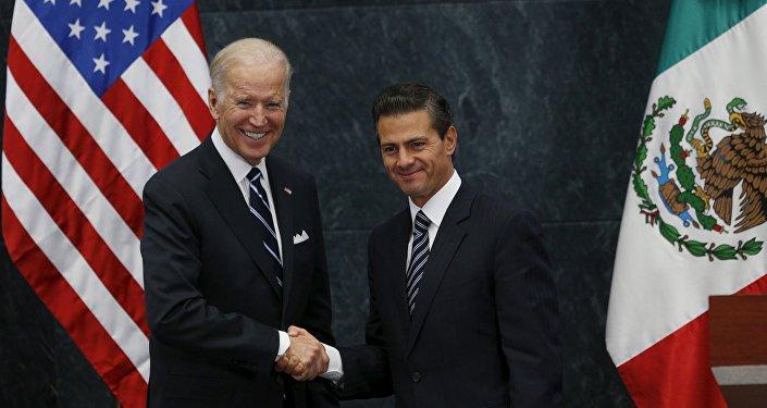 Vicepresidente de EEUU, Joe Biden, y presidente de México, Enrique Peña Nieto