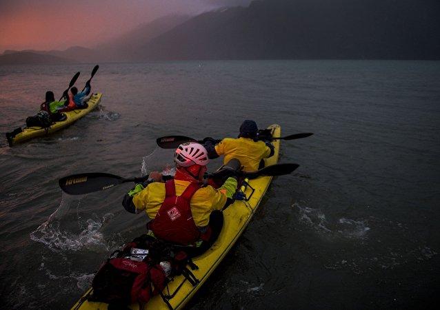 """""""Medida para airear el cerebro"""": Una carrera de aventura por la Patagonia"""