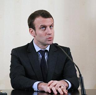 Emmanuel Macron, candidato a la Presidencia de Francia (Archivo)
