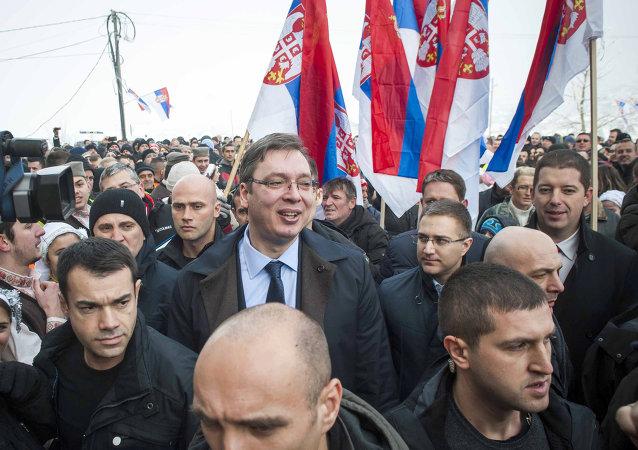 Aleksandr Vucic, primer ministro de Serbia