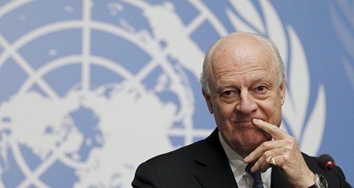 Staffan de Mistura, enviado especial de la ONU