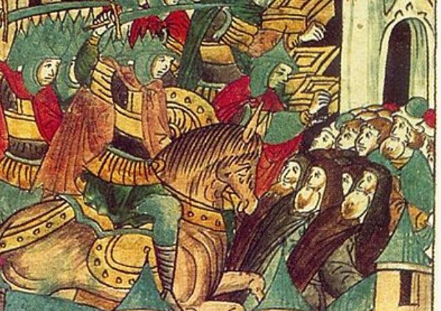 Sitio de Súzdal por Batú Kan, 1238 (miniatura)