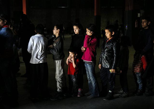 Niños refugiados (archivo)