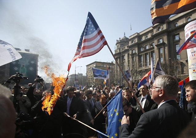16º aniversario de los bombardeos de la ciudad de Belgado por las fuerzas de la OTAN