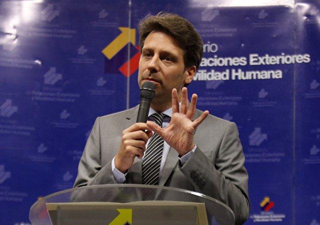 Guillaume Long, ministro de Exteriores de Ecuador