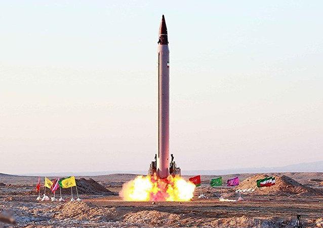 Misil balístico iraní Emad (archivo, el febrero de 2016)
