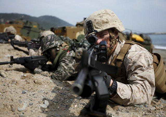 Las maniobras conjuntas de EEUU y Corea del Sur (archivo)