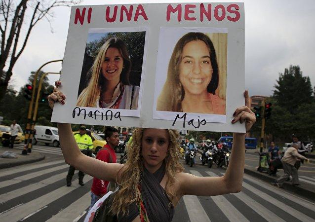 Protesta contra la discriminación y la violencia contra las mujeres en Colombia (archivo)