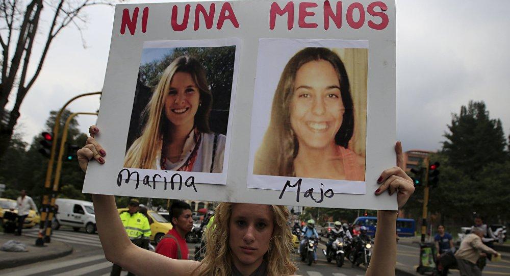 Protesta contra la discriminación y la violencia contra las mujeres en Colombia