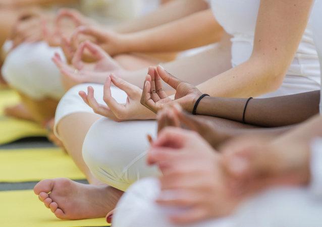 Practicantes de yoga