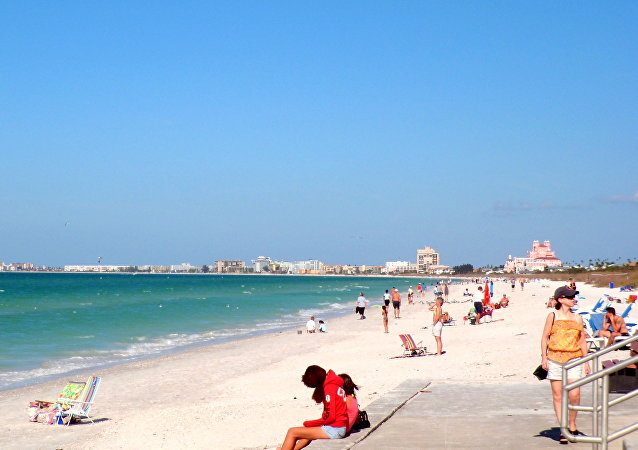 Una playa en México