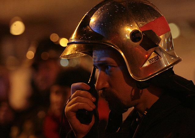 Un bombero ruso (archivo)