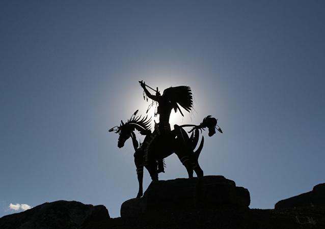 Monumento del cacique de los indios de Oyosoo, Canada
