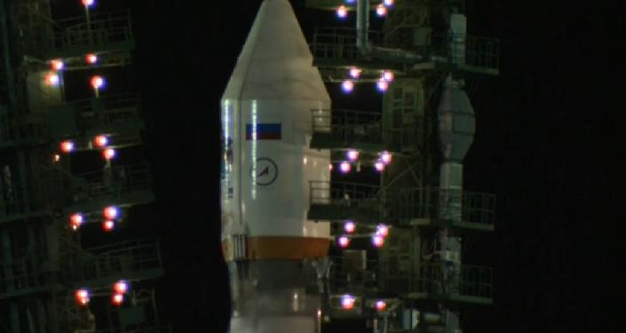 Lanzamiento del cohete portador Soyuz-2.1b desde Baikonur