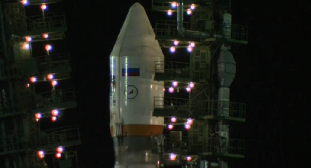 Lanzamiento de un cohete Soyuz 2.1
