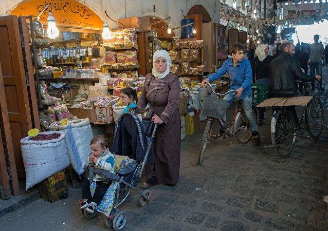 Civiles en Damasco, Siria (archivo)