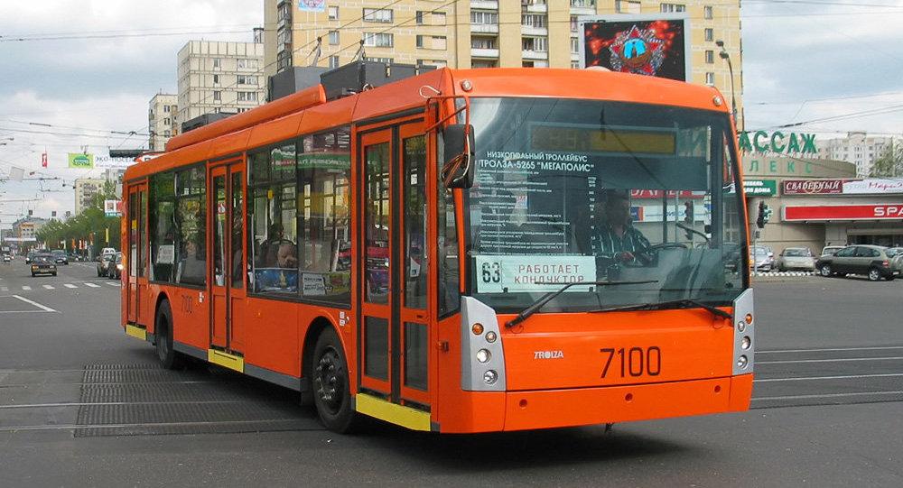 Trolebús Trolza-5265 Megapolis en las calles de Moscú