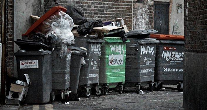 Contenedores de basura en Londres