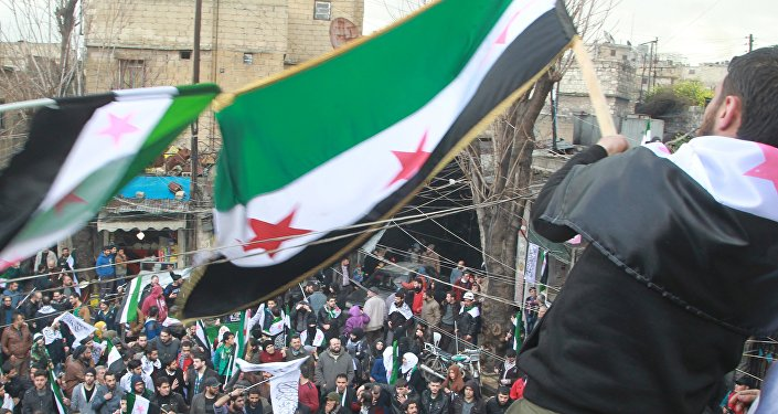 Simpatizantes de la oposición armada siria en Alepo (archivo)