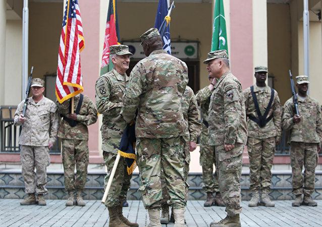 Comandantes de la OTAN en la sede de la misión Apoyo Resoluto, Kabul
