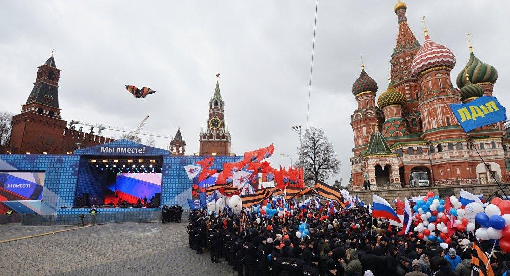 La celebración en Moscú del Día de la reintegración de la península de Crimea con Rusia