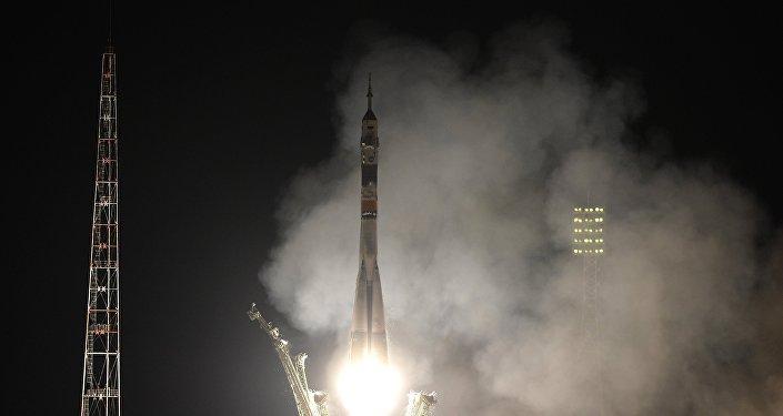 Lanzamiento de la nave espacial Soyuz TMA-20M