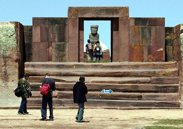 Templo de Kalasasaya en Tiwanaku