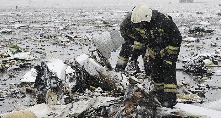 El lugar del siniestro del Boeing FZ981 en Rostov del Don