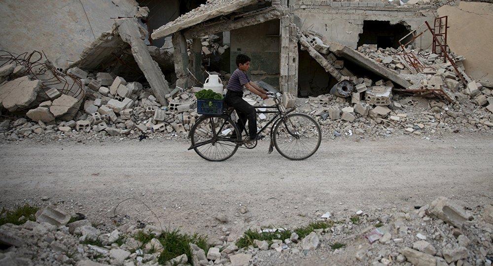 Edificios destruidos por los bombardeos en Siria