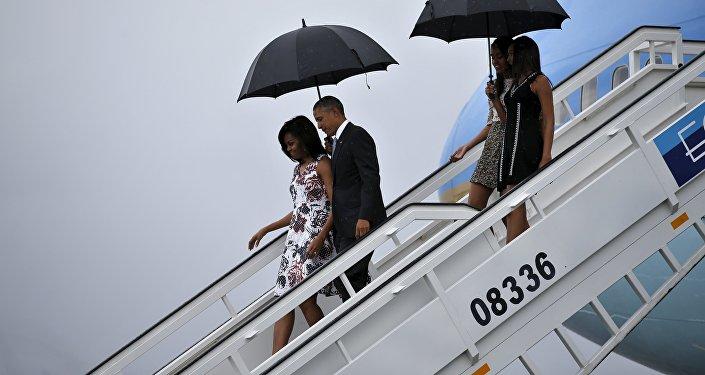 Presidente EEUU Barack Obama y su esposa Michelle en La Habana
