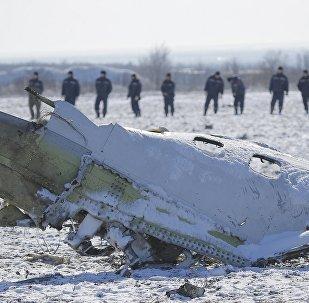 Lugar del siniestro del Boeing en Rostov del  Don, Rusia