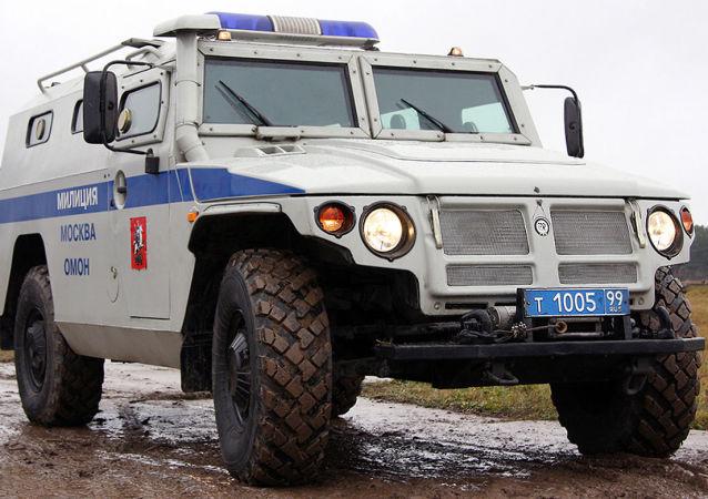 La versión policial del todoterreno ruso Tigr