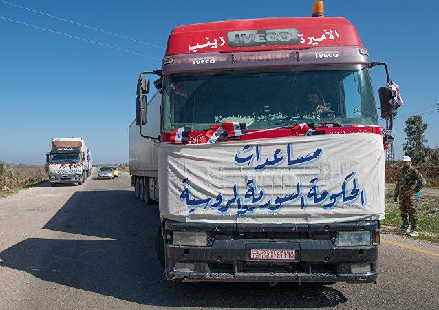 Un convoy humanitario