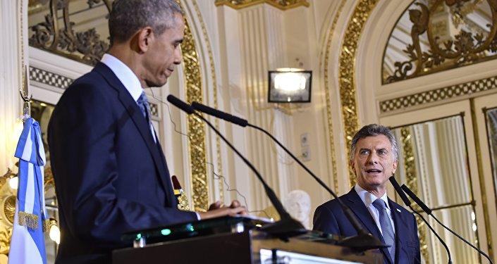 El presidente de EEUU, Barack Obama, y el presidente de Argentina,Mauricio Macri