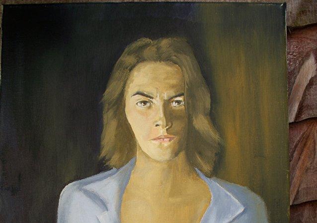 Trasey Emin, fragmento del retrato por Reginald Gray
