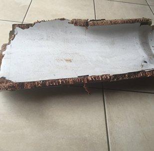 Una pieza de avión encontrada en Mozambique