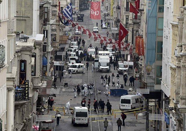Lugar del atentado en Estambul. El 19 de marzo del 2016