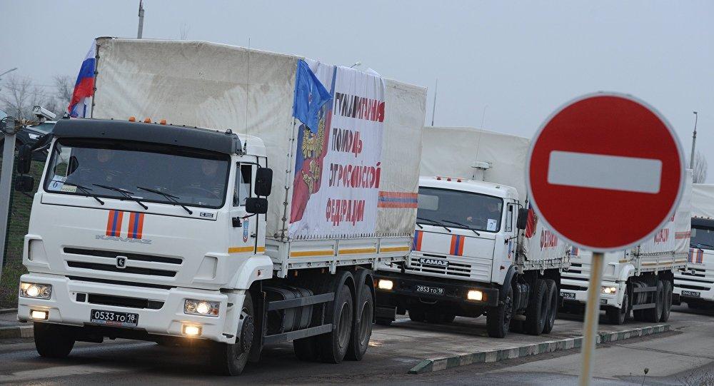 Convoy ruso con la ayuda humanitaria para Donbás