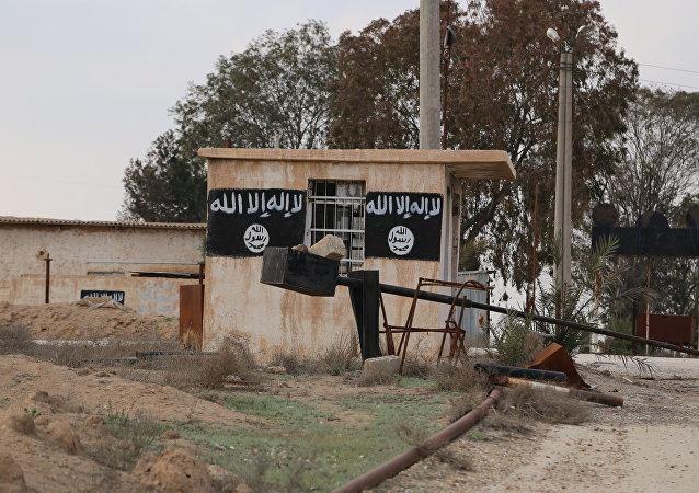 Una de las casas ocupadas por los terroristas en la ciudad de Al Shaddadi