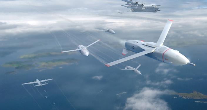 El concepto de los drones de DARPA