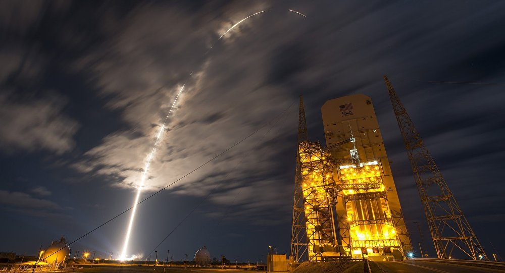A United Launch Alliance Atlas V rocket carrying Orbital ATK's Cygnus spacecraft