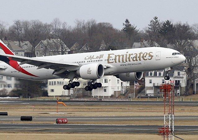 Avión de la compañía Emirates Airlines