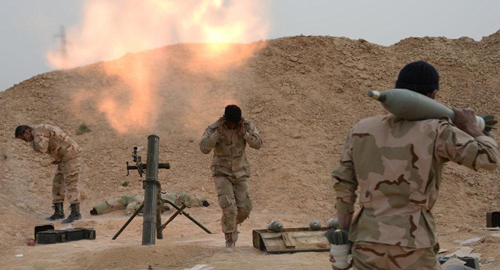 Ejército sirio cerca de Palmira