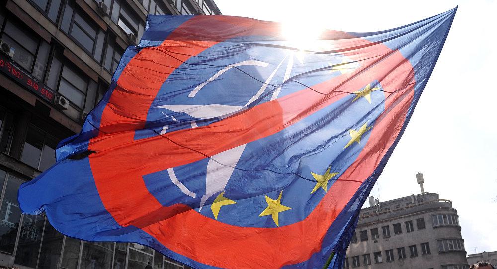 Manifestación anti-OTAN en Belgrado (archivo)